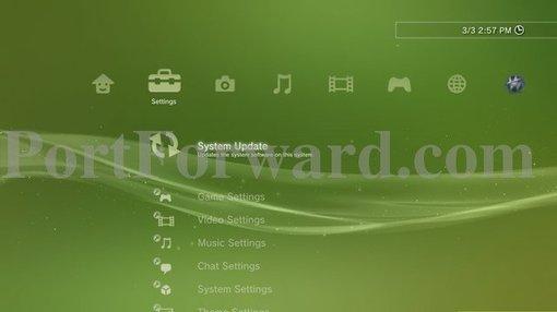 Настройка статического IP на консоли PS3