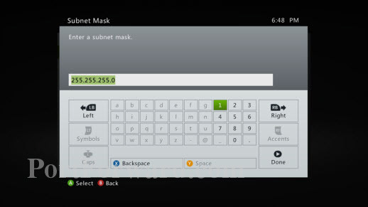 Xbox-360-Enter-Subnet-Mask