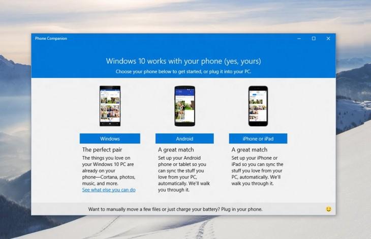 Как синхронизировать ваши устройства на iOS и Android с Windows 10 при помощи программы Phone Companion