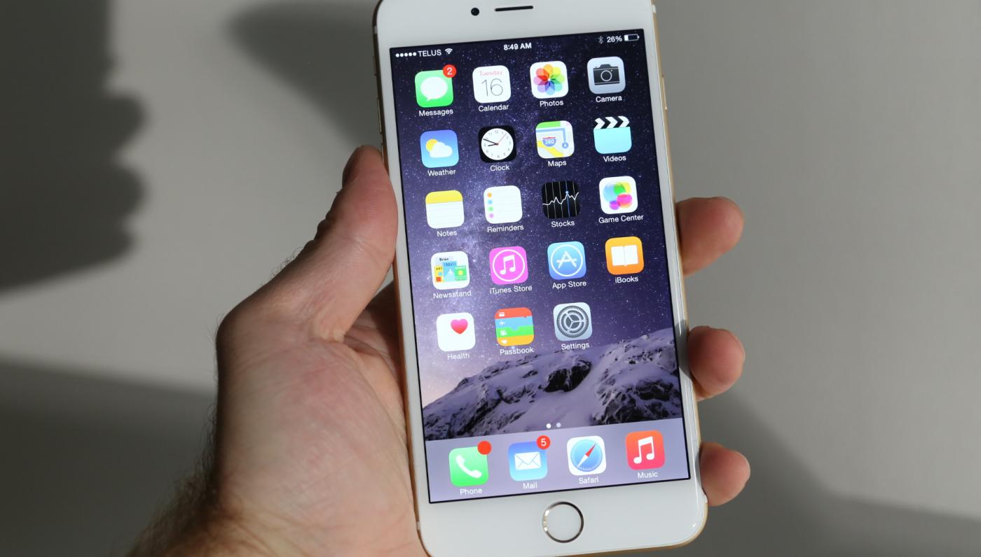 Проблема синего экрана на iPhone 6