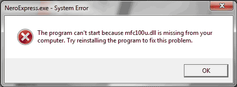mfc100u-dll-error-nero