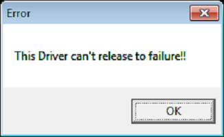 The driver can't release to failure