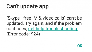 924 в Play Market на Android