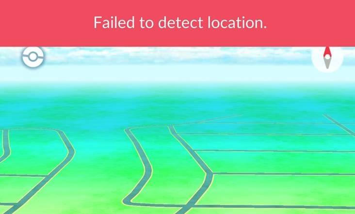 Failed to detect location в Pokemon Go
