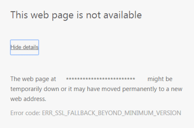 ERR_SSL_FALLBACK_BEYOND_MINIMUM_VERSION