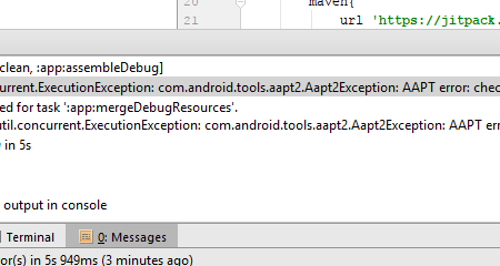 Error:com.android.tools.aapt2.Aapt2Exception: AAPT2 error: check logs for details