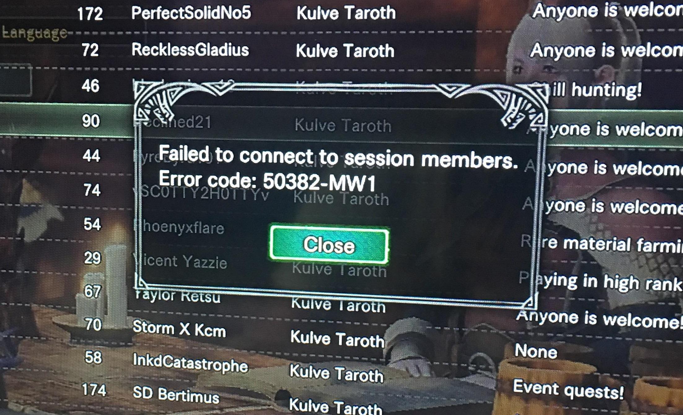 error code 50382-MW1