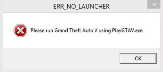 ERR_NO_LAUNCHER в GTA 5