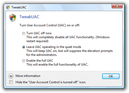 UAC Tweak