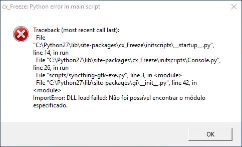 CX_FREEZE Fatal Error