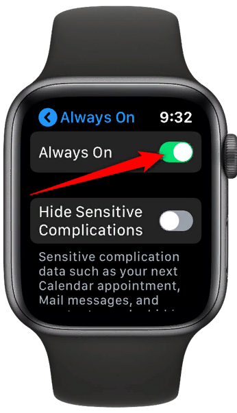 Apple Watch 5 всегда включен