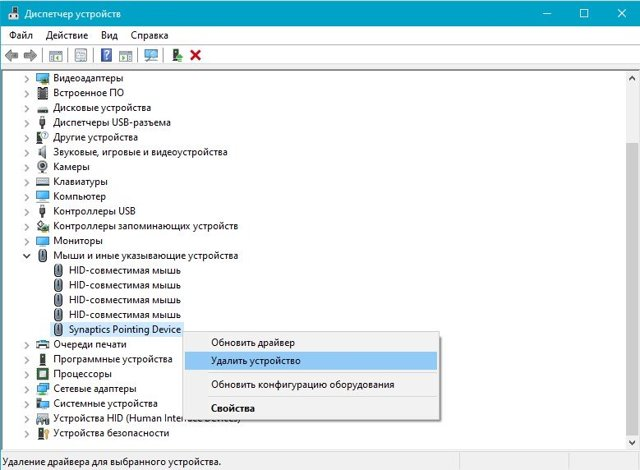Tochpad device manager