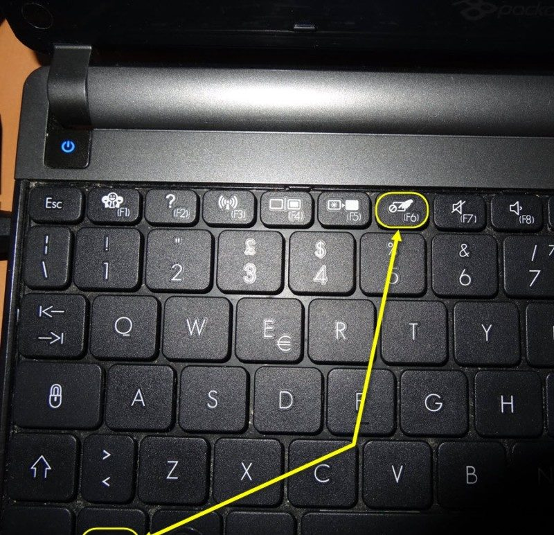 disable touchpad on laptop