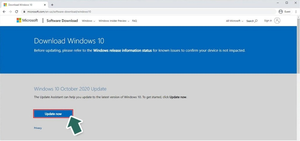 Your Windows 10 version will be out of service soon