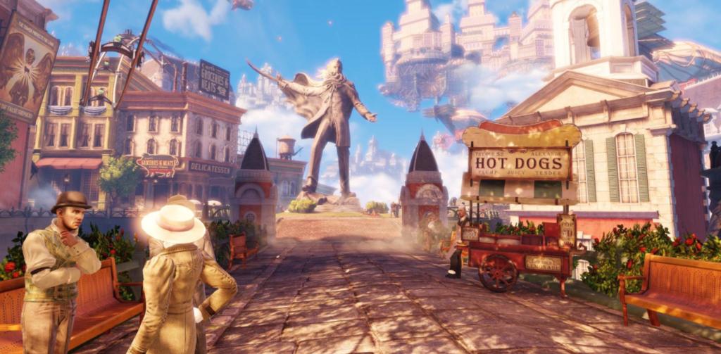 Bioshock Infinite: Square with a Statue