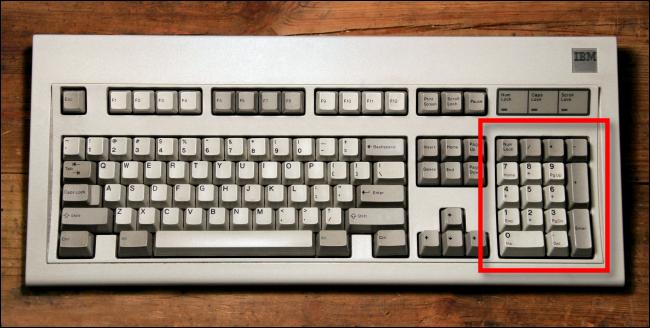 keyboard writes in numbers