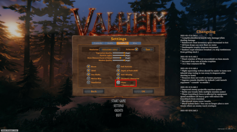 Valheim overheats the computer