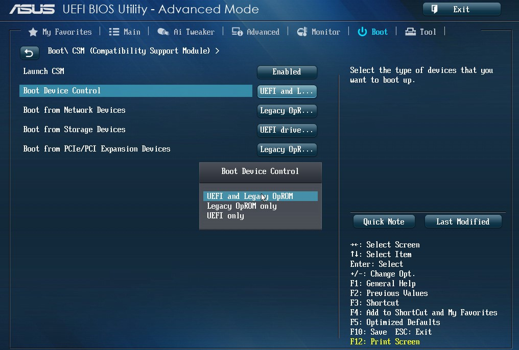 BIOS LEGACY BOOT OF UEFI ONLY MEDIA
