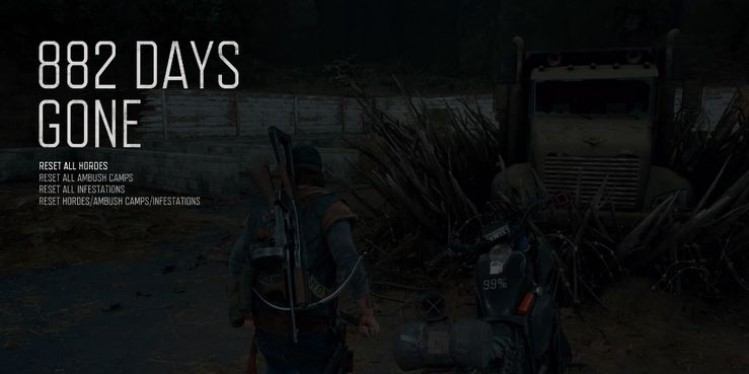 How to reset hordes and missions in Days Gone?