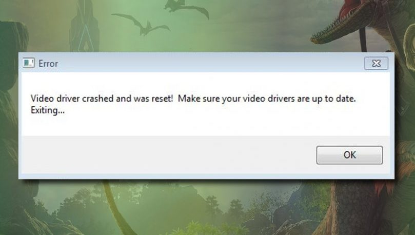 Video Driver crashed and was reset