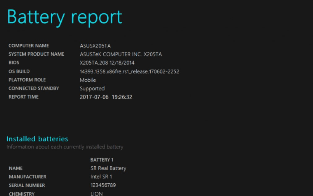 How to assess battery health in Windows 10?